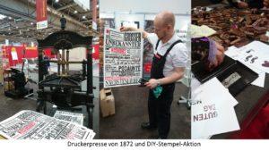 Leipziger Buchmesse: Druckerpresse
