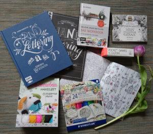 Handlettering, DIY, Ausmalbuch, Sketchbook: Auszeit für Kreative