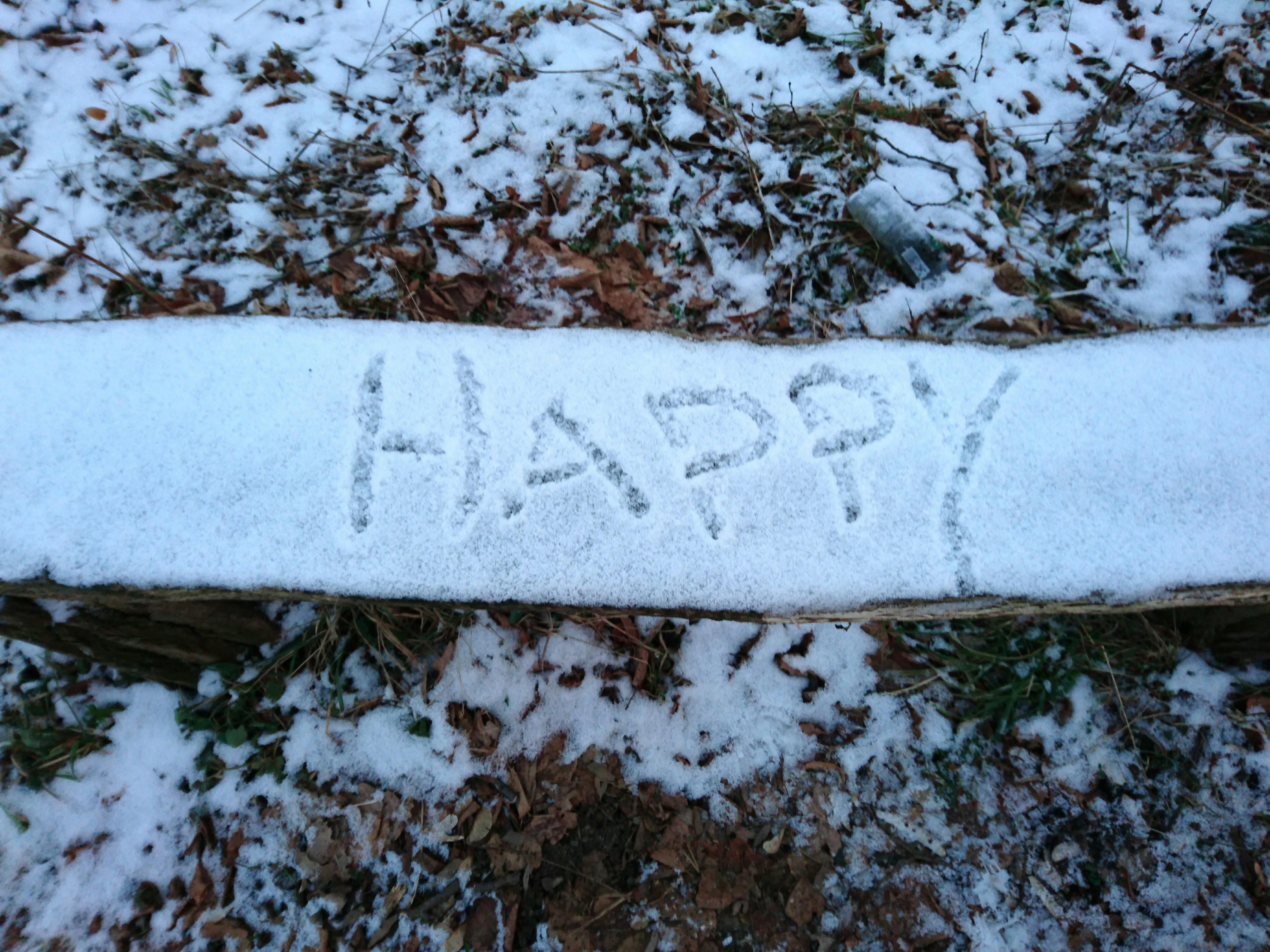 Freude im Schnee